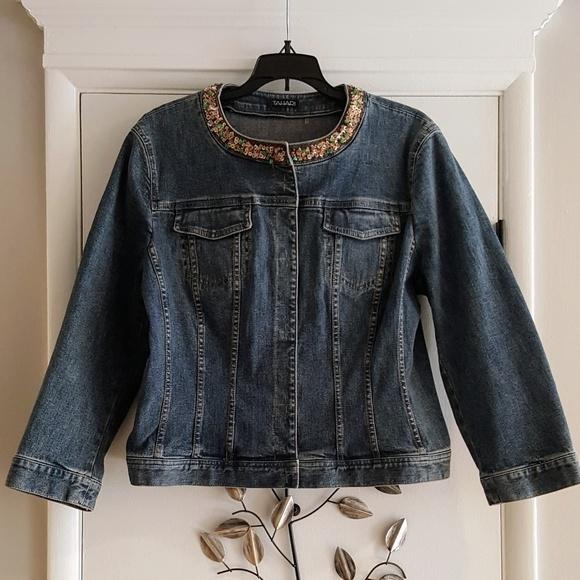 Tahari Jackets & Blazers - Tahari Womens Denim Jacket